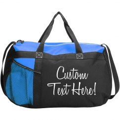 Custom Text Teen Girl Duffel Bag