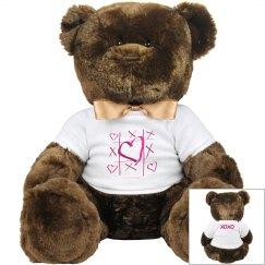 Hearts XO Stuffed Toy Animal