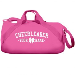 Cute Custom Cheerleader Name Cheer Bow Bag