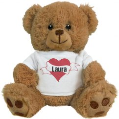 Custom Valentines Bear