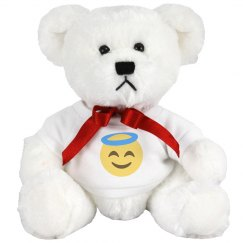 Smiling Face with Halo Medium Plush Teddy Bear