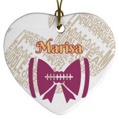 Xmas Football  Ornament