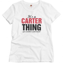 It's a Carter Thing