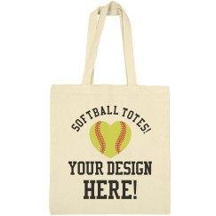 Custom Softball Mom Tote Bags