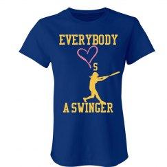 Softball Swinger Tee