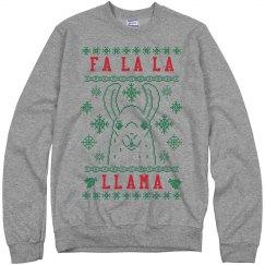Fa La La Llama Red And Green