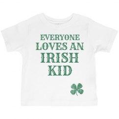 St Patricks Day Irish Kid Green