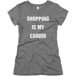 """Shopping=Cardio"" Tee"