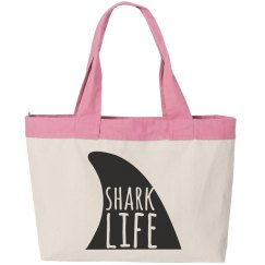 Shark Life Beach Bag