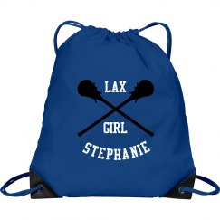 Custom Lax Girl Drawstring Bag