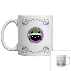 Purrfect xmas mug purple