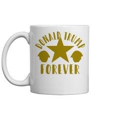 DONALD TRUMP FOREVER GOLD MUG