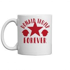 DONALD TRUMP FOREVER RED HOT MUG