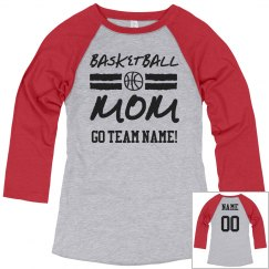 Custom Basketball Mom Fan Shirt