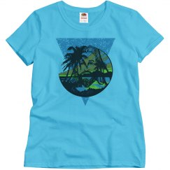Beach Jesus Women's Tee Blue