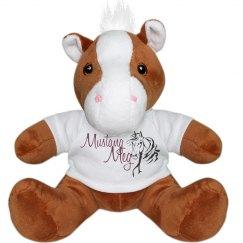 Mustang Meg plush horse