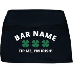 Irish Pub Server Apron St Pattys