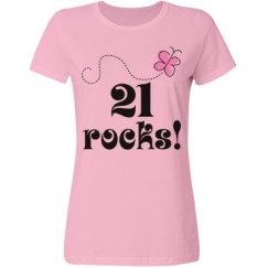 21st Birthday 21 Rocks
