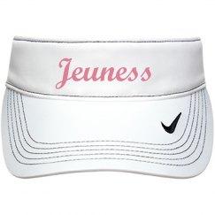 Jeuness White Visor Hat