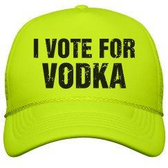 Neon Vote For Vodka