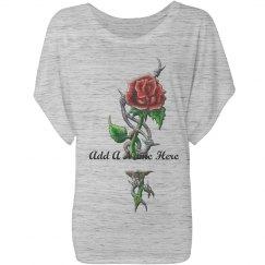 Long Stem Rose Customized Name