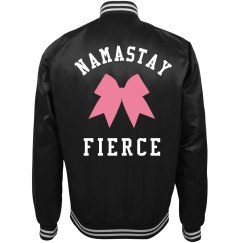 Cheer Humor Namastay Bow Jacket