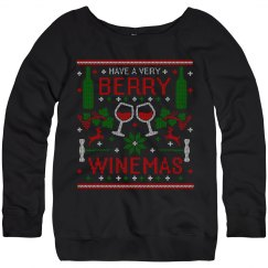 Berry WInemas Ugly Christmas Sweater by TeeCreations