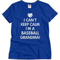 Keep Calm Baseball Grandma