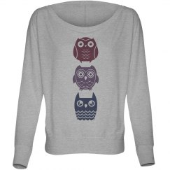 Three Owls On Flowy