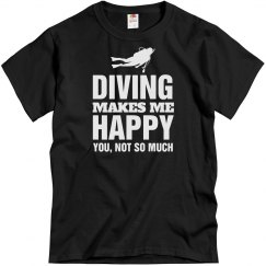 Diving makes me happy