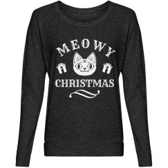 Meowy Christmas Cat Charcoal