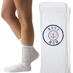 Navy mom socks