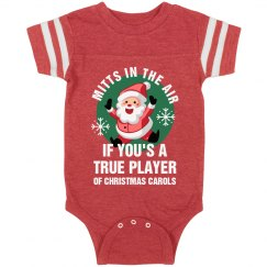 Mitts In The Air Christmas Onesie