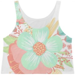 Spring Floral All-Over Print Flower