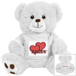 Red Hearts Teddy Bear