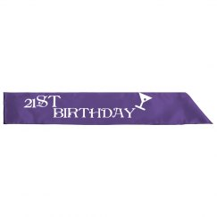 21ST Birthday Sash Purple