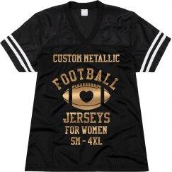 Custom Metallic Plus Sized Jersey