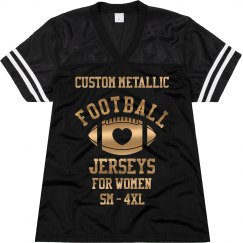 Custom Metallic Football Jersey