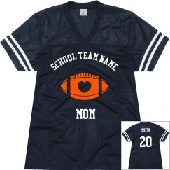 Custom team football jerseys for mom