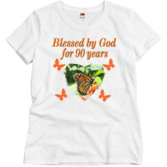 BLESSED BY GOD 90TH BUUTERFLY