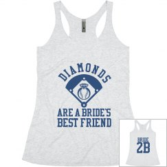 Diamonds Are A Bride's Best Friend Bachelorette Tank