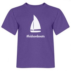 kidsonboats, tee, purple