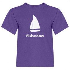 kidsonboats, tee, purple