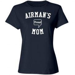 Proud airman's mom