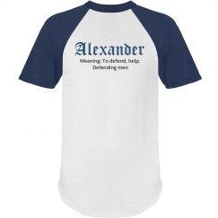 Alexander name shirt