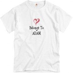 Heart belongs to Adam