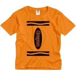 Cute Crayon Halloween Youth Shirt