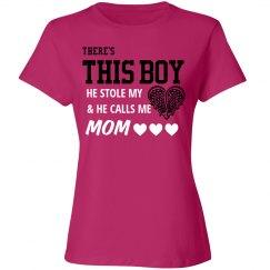 Cute Lacrosse Heart Mom