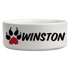 Winston, Dog bowl