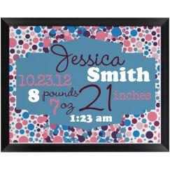 Birth Announcement Plaque